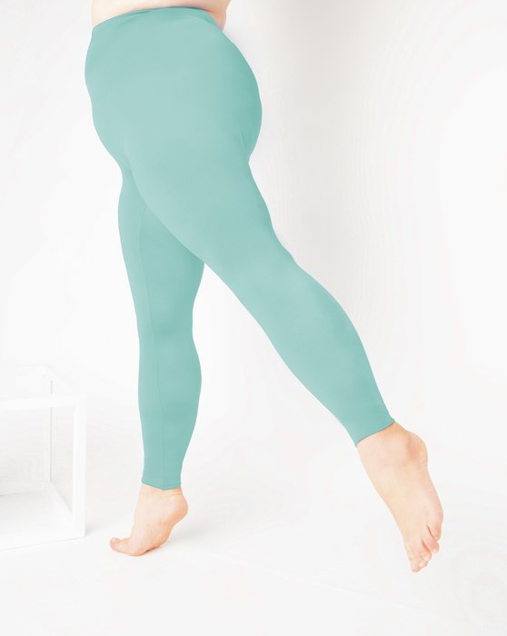 Dusty Green Footless Performance Tights Leggings Style# 1047 | We Love Colors