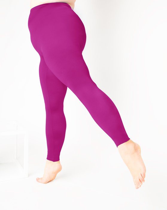 Fuchsia Womens Footless Performance Tights Leggings Style# 1047 | We Love Colors