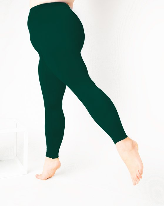 Hunter Green Footless Performance Tights Leggings Style# 1047 | We Love Colors
