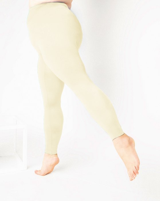 Ivory Footless Performance Tights Leggings Style# 1047 | We Love Colors