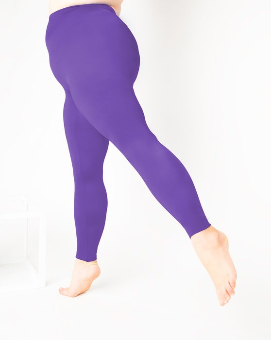 Lavender Womens Footless Performance Tights Leggings Style# 1047 | We Love Colors