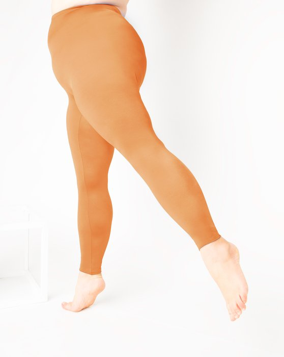 Light-Orange Womens Footless Performance Tights Leggings Style# 1047 | We Love Colors