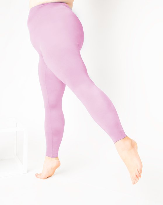 Light-Pink Womens Footless Performance Tights Leggings Style# 1047 | We Love Colors