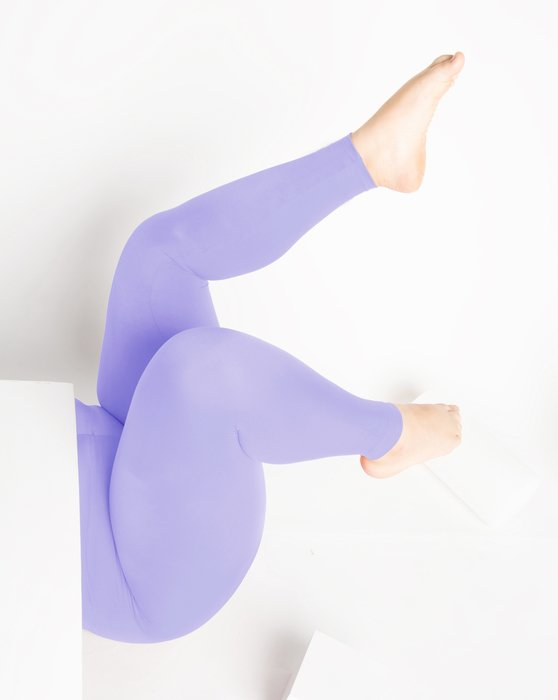 Lilac Womens Footless Performance Tights Leggings Style# 1047 | We Love Colors