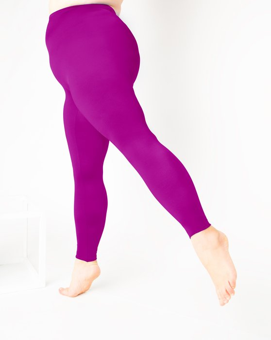 Magenta Womens Footless Performance Tights Leggings Style# 1047 | We Love Colors