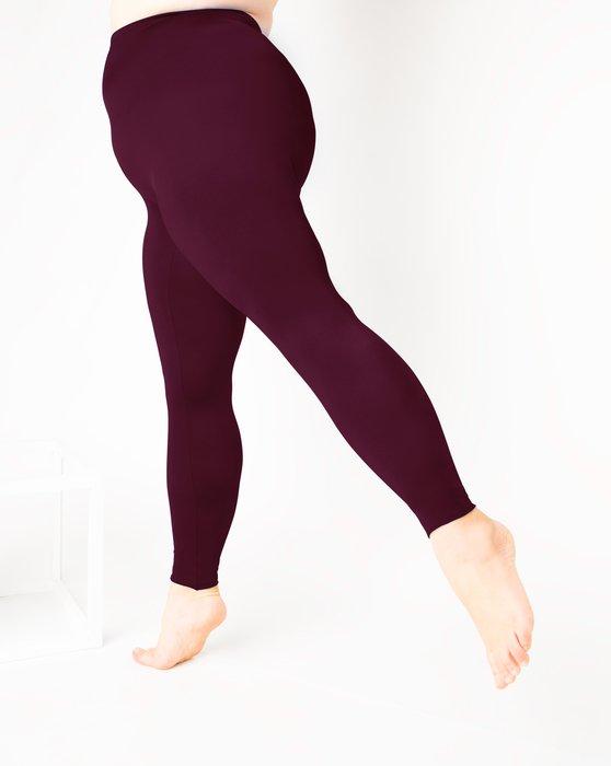 Maroon Footless Performance Tights Leggings Style# 1047 | We Love Colors