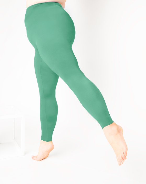 Scout-Green Womens Footless Performance Tights Leggings Style# 1047 | We Love Colors