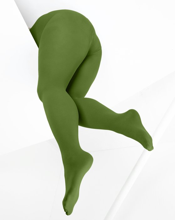 Olive-Green Womens Microfiber Nylon/Lycra Tights Style# 1053 | We Love Colors