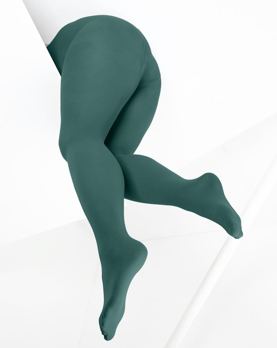 Spruce-Green Womens Microfiber Nylon/Lycra Tights Style# 1053 | We Love Colors