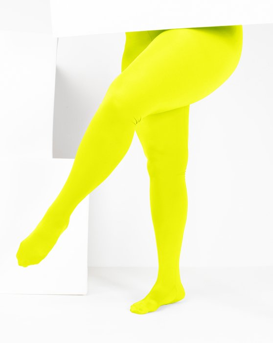 Neon Yellow Womens Performance Tights Style# 1061 | We Love Colors