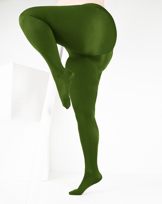 Olive-Green Womens Performance Tights Style# 1061 | We Love Colors