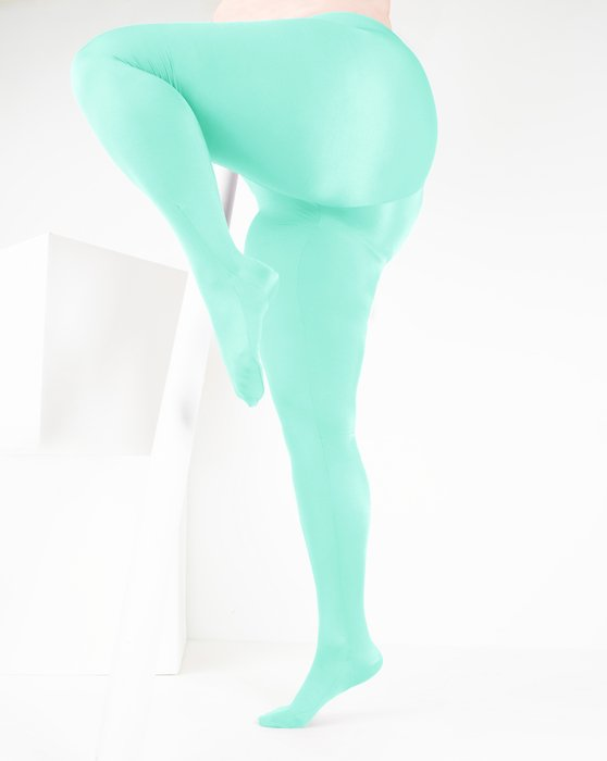 Pastel-Mint Womens Performance Tights Style# 1061 | We Love Colors