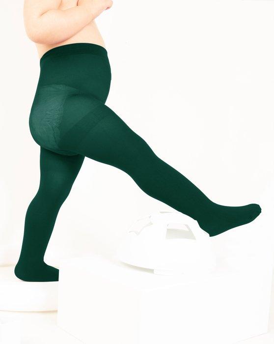 Hunter-Green Kids Nylon / Spandex Tights Style# 1073 | We Love Colors