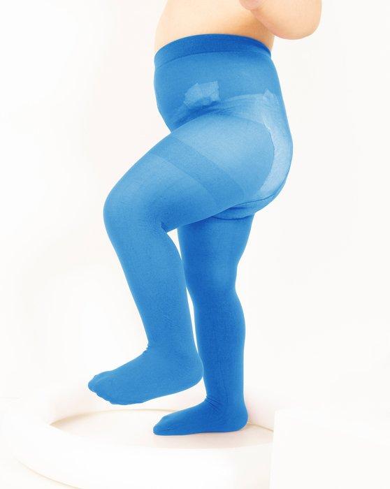 Medium-Blue Kids Nylon / Spandex Tights Style# 1073   We Love Colors