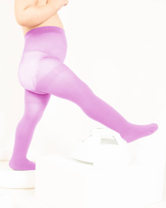 Orchid-Pink Kids Nylon / Spandex Tights Style# 1073 | We Love Colors