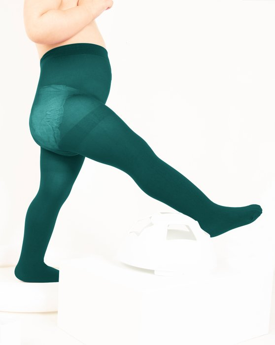 Spruce Green Kids Nylon / Spandex Tights Style# 1073 | We Love Colors