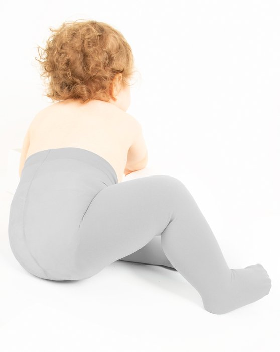 Light-Grey Kids Microfiber Tights Style# 1075 | We Love Colors