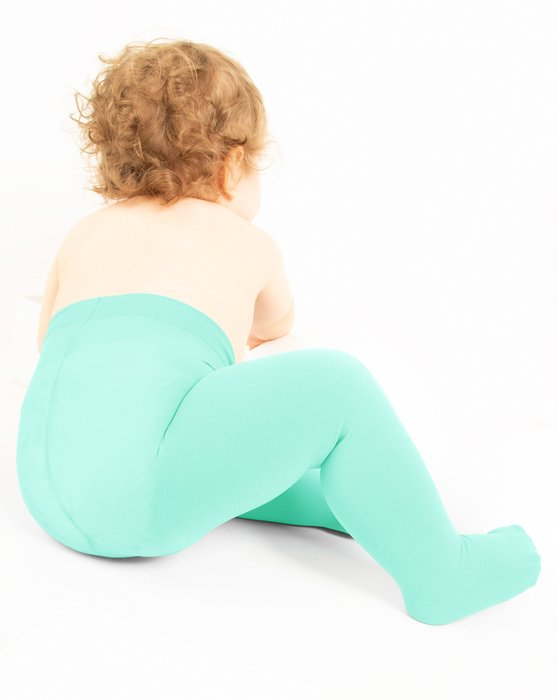 Pastel-Mint Kids Microfiber Tights Style# 1075 | We Love Colors