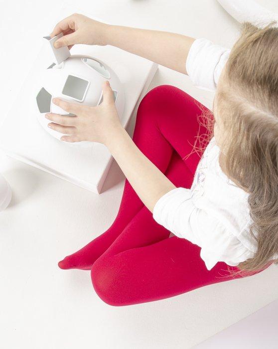 Scarlet-Red Kids Microfiber Tights Style# 1075 | We Love Colors