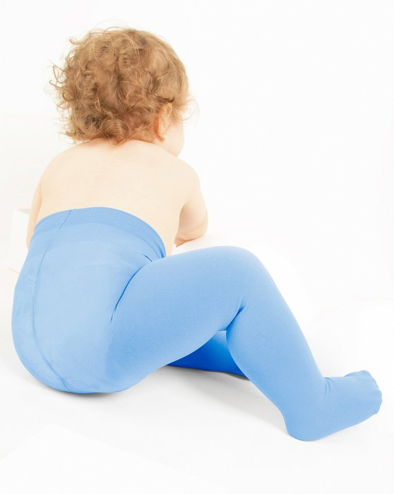 Sky-Blue Kids Microfiber Tights Style# 1075 | We Love Colors