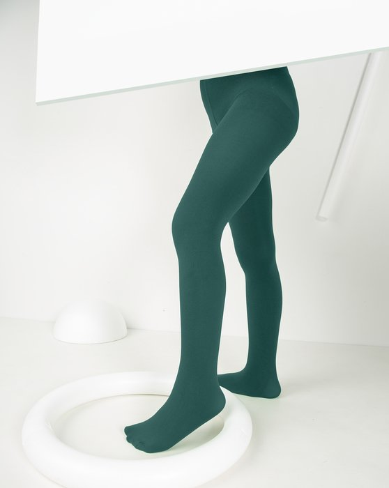 Spruce-Green Kids Microfiber Tights Style# 1075 | We Love Colors