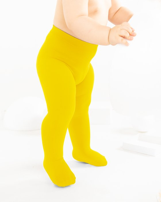 Yellow Kids Microfiber Tights Style# 1075 | We Love Colors