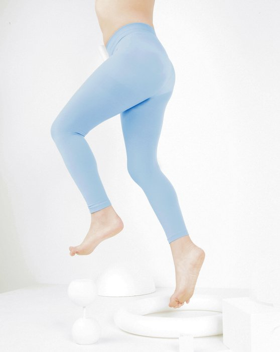 Baby Blue Womens Kids Microfiber Footless Tights Style# 1077 | We Love Colors