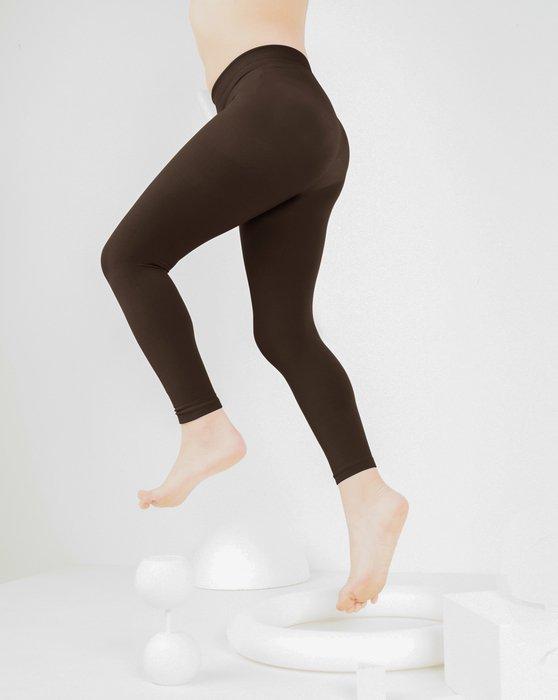 Brown Kids Microfiber Footless Tights Style# 1077 | We Love Colors