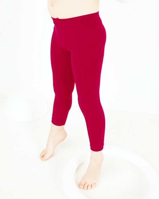 Red Kids Microfiber Footless Tights Style# 1077 | We Love Colors