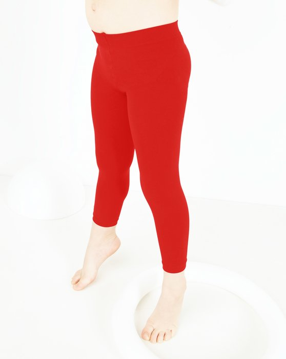 Scarlet-Red Kids Microfiber Footless Tights Style# 1077 | We Love Colors