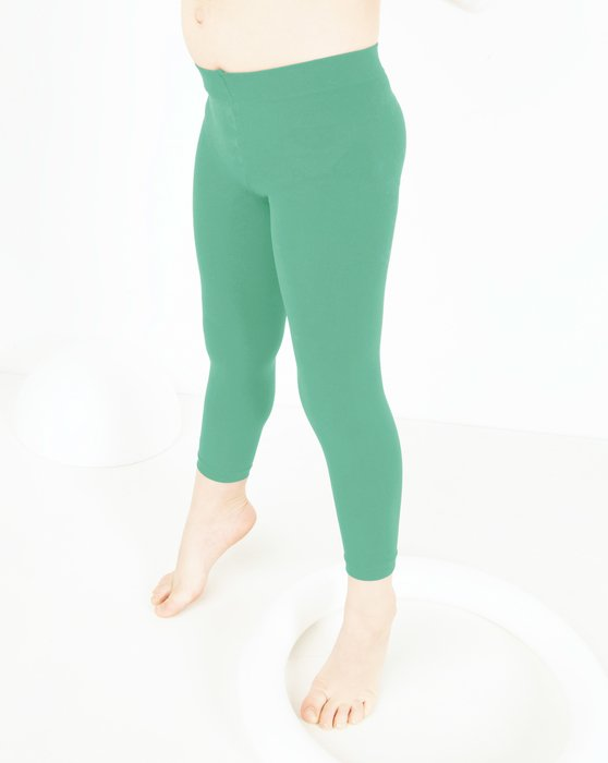 Scout-Green Kids Microfiber Footless Tights Style# 1077 | We Love Colors