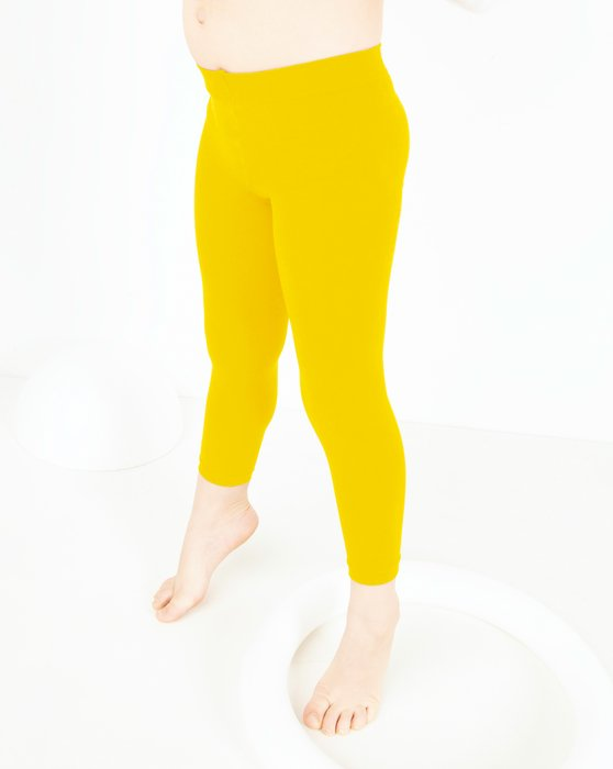 Yellow Kids Microfiber Footless Tights Style# 1077 | We Love Colors