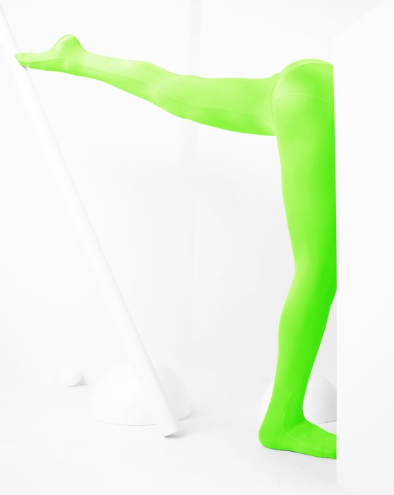 Neon Green Kids Performance Tights Style# 1081 | We Love Colors