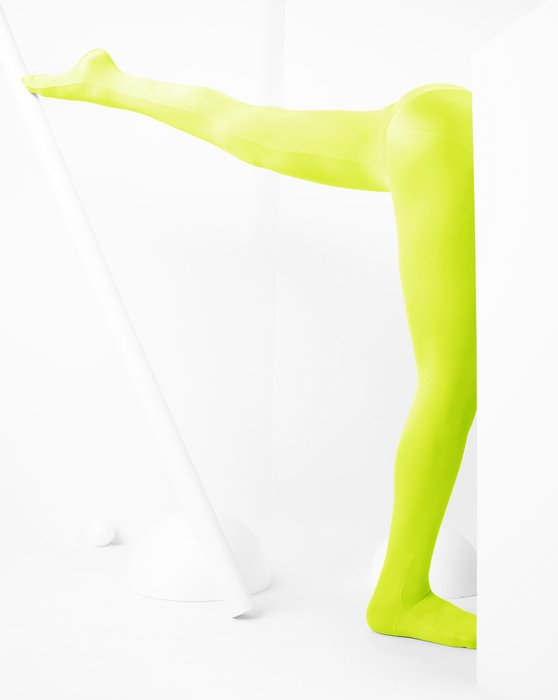Neon Yellow Kids Performance Tights Style# 1081 | We Love Colors