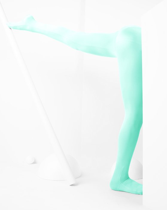 Pastel-Mint Kids Performance Tights Style# 1081 | We Love Colors