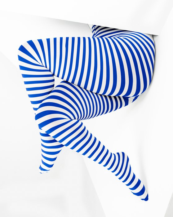 Royal White Plus Sized Striped Tights Style# 1204 | We Love Colors