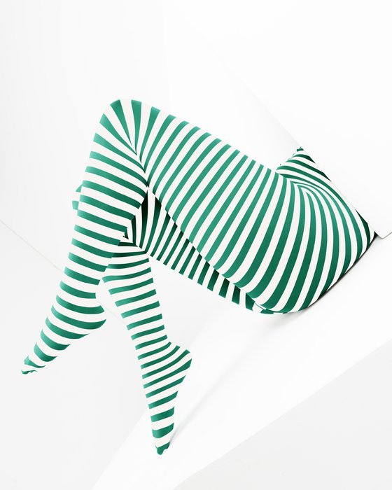 Emerald White Plus Sized Striped Tights Style# 1204 | We Love Colors