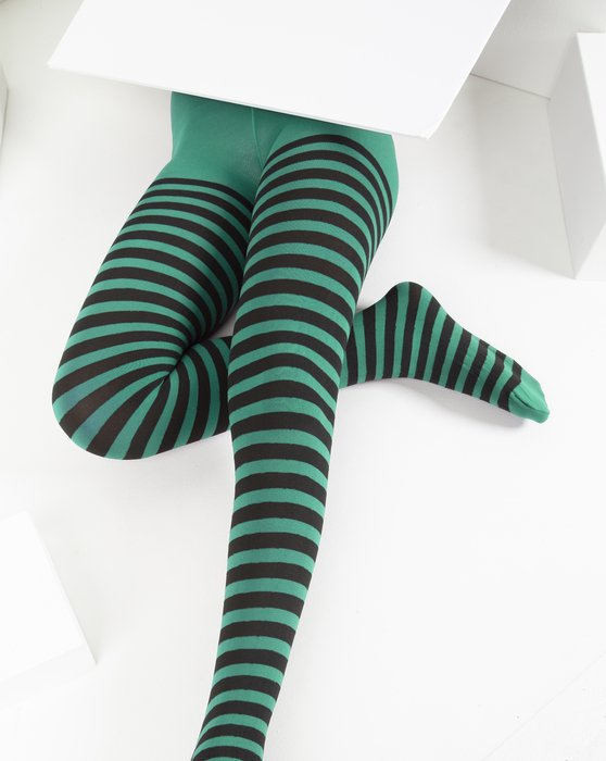 Scout-Green Kids Striped Tights Style# 1271 | We Love Colors