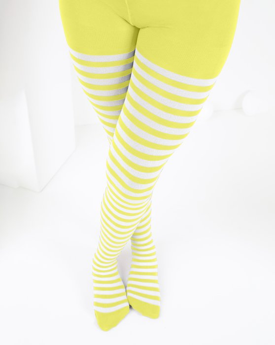 Maize Kids White Striped Tights Style# 1273 | We Love Colors