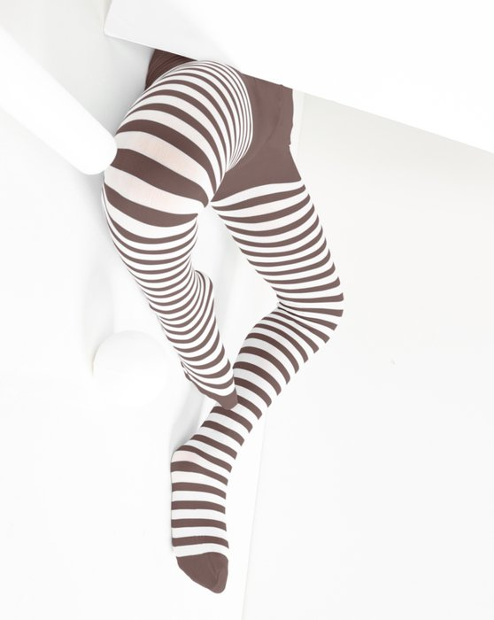 Mocha Kids White Striped Tights Style# 1273 | We Love Colors