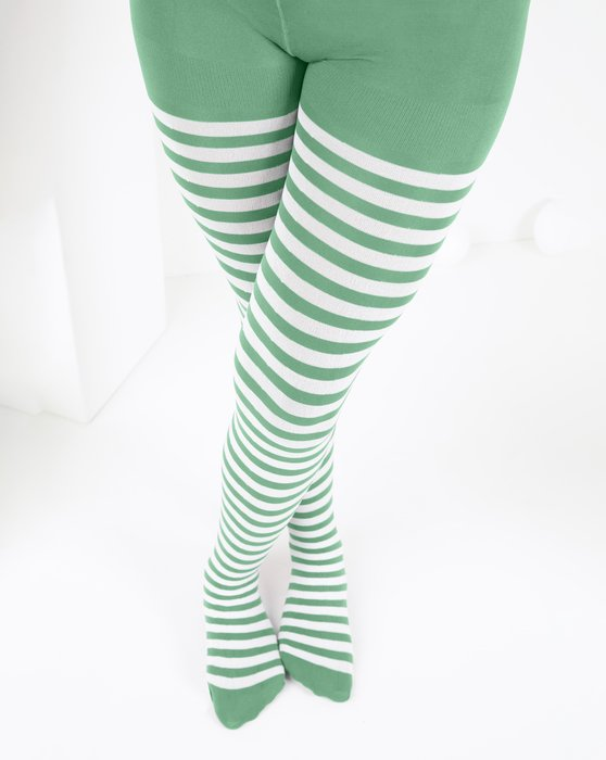 Kids White Striped Tights Style# 1273 | We Love Colors