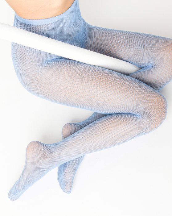 Baby-Blue Womens Nylon/Lycra Fishnets Style# 1401 | We Love Colors