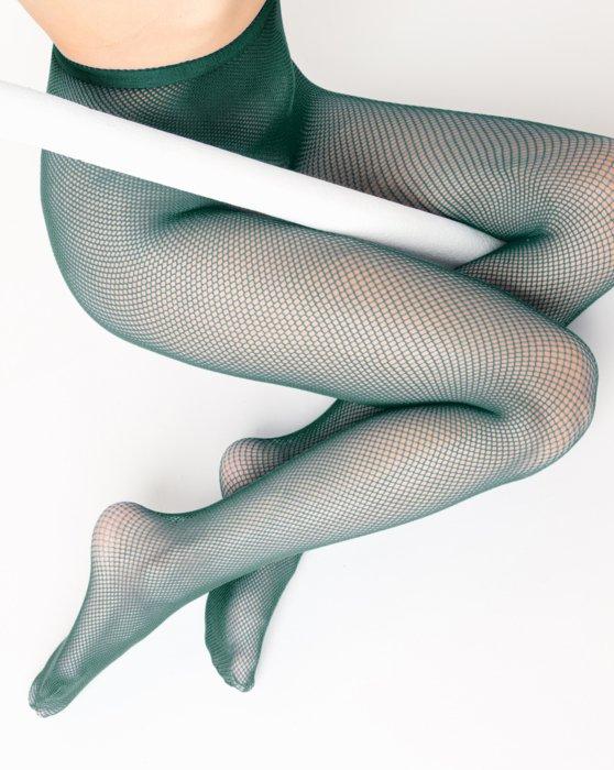 Hunter Green Nylon/Lycra Fishnets Style# 1401 | We Love Colors