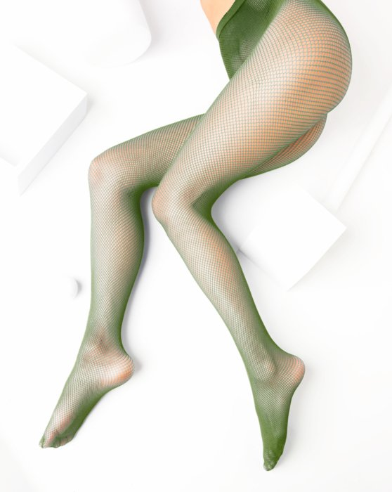 Olive Green Nylon/Lycra Fishnets Style# 1401 | We Love Colors
