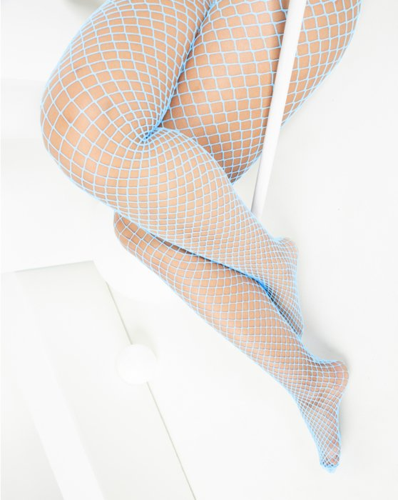Baby Blue Wide Mesh Fishnet Pantyhose Style# 1403 | We Love Colors