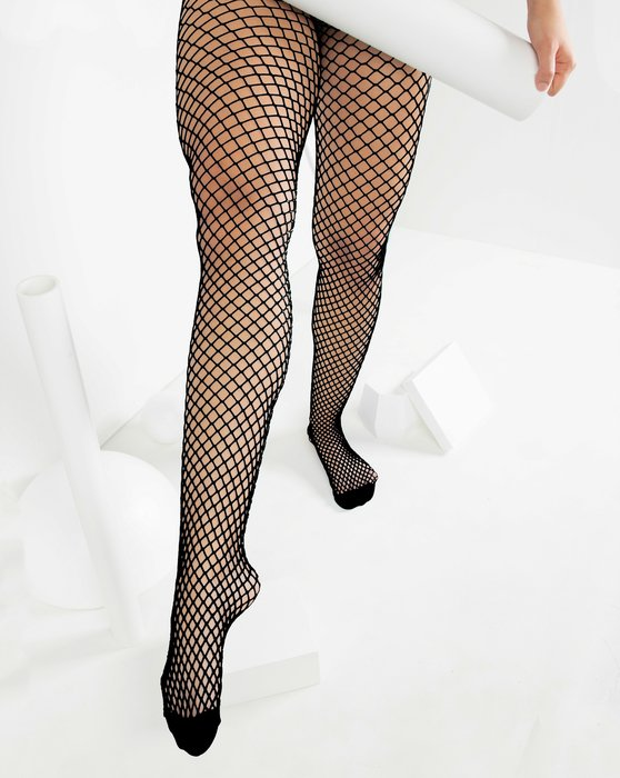 Black Womens Wide Mesh Fishnet Pantyhose Style# 1403 | We Love Colors
