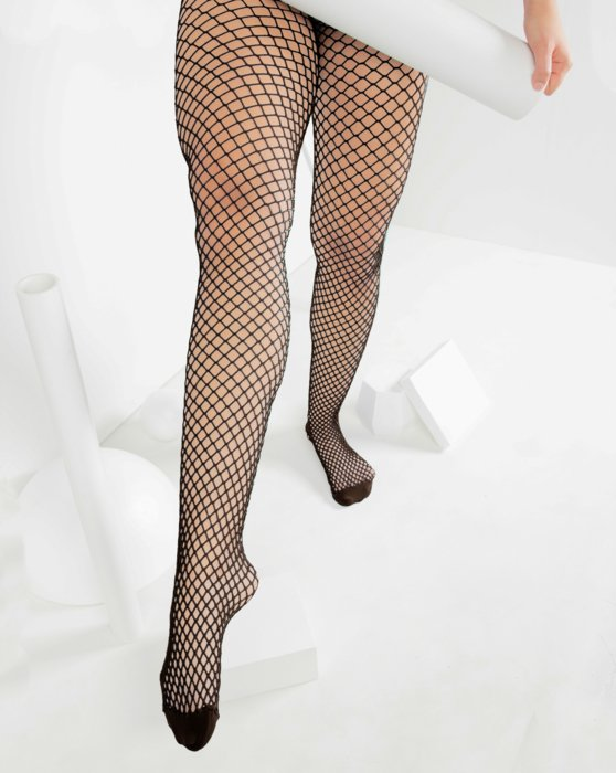 Brown Womens Wide Mesh Fishnet Pantyhose Style# 1403 | We Love Colors