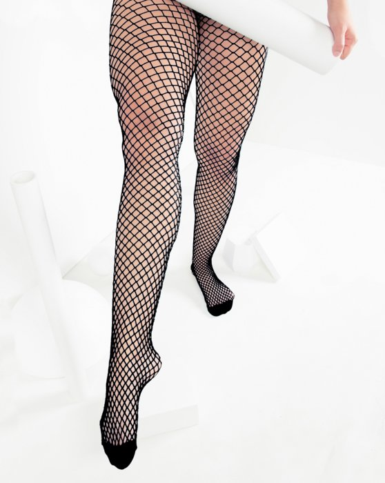 Charcoal Womens Wide Mesh Fishnet Pantyhose Style# 1403 | We Love Colors