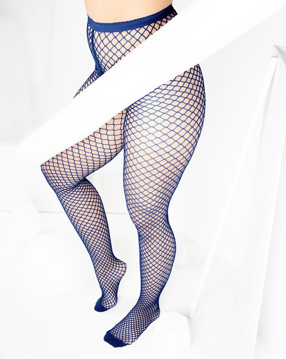 Navy Wide Mesh Fishnet Pantyhose Style# 1403 | We Love Colors