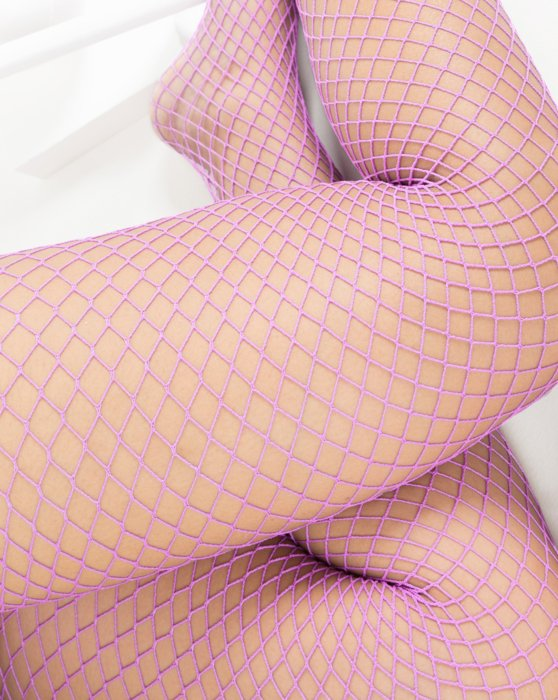 Orchid Pink Wide Mesh Fishnet Pantyhose Style# 1403 | We Love Colors